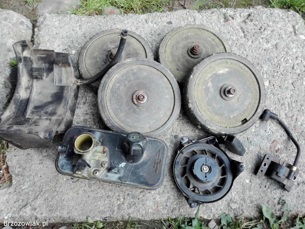 Kosiarka -  cześci,  koła,  zbiornik paliwa,  cewka